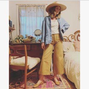 Vintage ruffle cardigan